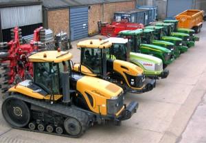 Range of tractors